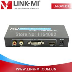 79.90$  Buy here - http://alippb.worldwells.pw/go.php?t=32664145804 - LINK-MI LM-DVIH01 Supports VGA HD Video 1080p With RCA Audio DVI-D to HDMI Converter