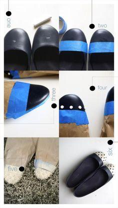 DIY Ballerina Costume : DIY Dipped & Polka Dotted Flats