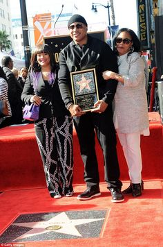 Family: The actor joined his wife Simone Smith and mother Ondrea Smith, at the Star On The Hollywood Walk of Fame Ceremony