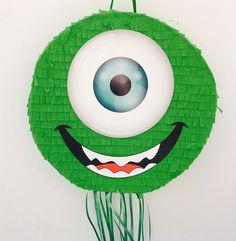 Mike Wazowski PIÑATA, fiesta de cumpleaños Monsters Inc, favor, tirar la piñata de cadena de TRUSTITI en Etsy https://www.etsy.com/es/listing/515710093/mike-wazowski-pinata-fiesta-de