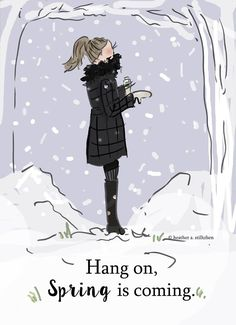Well, it's snowing again, but hang on, Spring is just around the corner! ッ༺ß༻