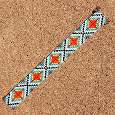 Ranchero Bead Loom Bracelet Artisanal Jewelry by PuebloAndCo