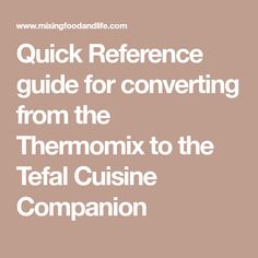 The Thermomix can be an absolute godsend to the time poor person or a culinary experience to the basic cook. How To Convert A Recipe, Cooking, Recipes, Food, Thermomix, Kitchen, Recipies, Essen, Meals