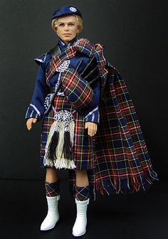 OOAK Barbie NiniMomo's Scotland Ken 2009 Tartan Fashion, Barbie Family, Ken Doll, Barbie Collection, Barbie World, Barbie Friends, Barbie And Ken, Ooak Dolls, Vintage Barbie