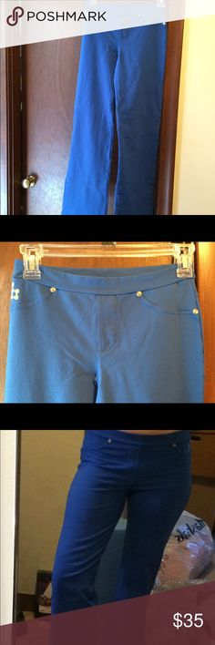 NWOT YOGA ZUMBA-like  PANTS I bought these at a aerobics conference in Boston!  they are from Brazil the tag says size 6 but in America it is a size small. Gorgeous royal blue color! I may also wear these as slacks for a night out Brazil Pants Track Pants & Joggers