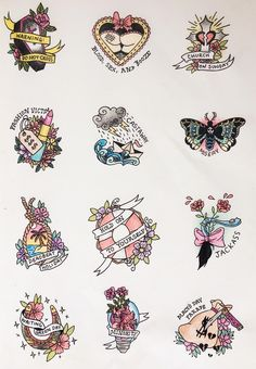 tattoo flash doodles for the album warning by green day ✨ Flash Art Tattoos, Tattoo Flash Sheet, Body Art Tattoos, New Tattoos, Sleeve Tattoos, Cool Tattoos, Punk Tattoo, Ship Tattoos, Retro Tattoos