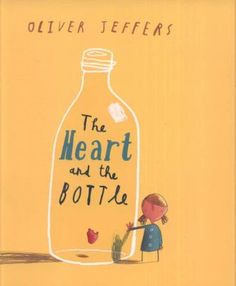 Ali: The Heart and the Bottle, by Oliver Jeffers Me: So sad. So, why'd you like it? Ali: Because it shows how there's always hope. Beautiful illustrations. Me: And of such an abstract topic too. So, ingenious. Ali: One kid heard it and asked, but how do they get the heart out of the bottle. Me: I'm guessing hinges.