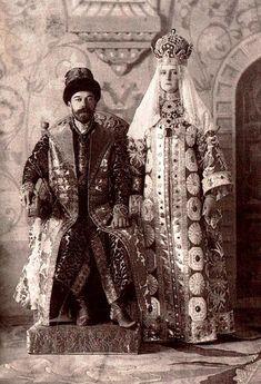 Nicholas II, Emperor of Russia and Empress Alexandra Fedorovna. Romanov Anniversary Ball (1903 THE LAST BALL