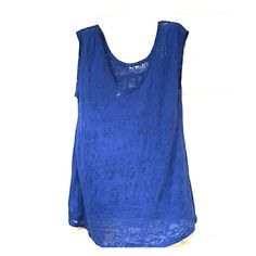 Blue sleeveless tunic Semi sheer. Perfect condition.  Worn once I Love Her Tops Tunics