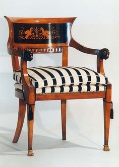 thinking about sofa cushions, think my frame was built up- wrongly. German Empire Armchair. Berlin ca.1821