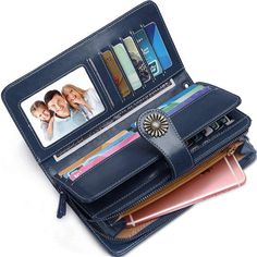30ccb369a5ce0 Women Wallets RFID Blocking Genuine Leather Ladies Wallets