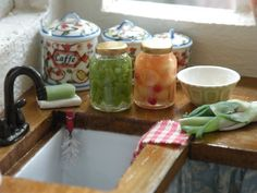 Perfectly pickled in miniature from Cynthias cottage design  #dollhouse miniatures