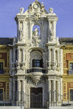 Sevilla. Palacio de San Telmo. Fachada barroca by Alfonso Suárez #Baroque #Architecture