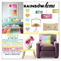 """""""Rainbow Home"""" by pat912 ❤ liked on Polyvore featuring interior, interiors, interior design, home, home decor, interior decorating, Martha Stewart, Universal Lighting and Decor, Universo Positivo and Levtex"""