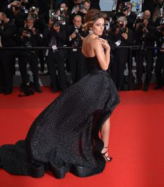 CANNES, FRANCE - MAY British singer Cheryl Cole arrives for the screening of the film 'Foxcatcher' during the Cannes Film Festival in Cannes, France on May (Photo by Mustafa Yalcin/Anadolu Agency/Getty Images) Strapless Dress Formal, Formal Dresses, Cheryl Cole, Cannes France, Eva Longoria, Jessica Chastain, Red Carpet Looks, Cannes Film Festival, British