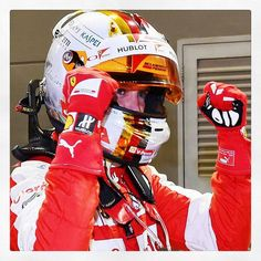 """""""Night to all #Ferrari 's fans! #Seb5 great pole! #Kimi7 great lap! Thanks guys! #KeepFightingMichael I'm sure that Michael is very proud of you!…"""""""