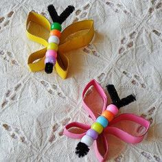 Beaded Butterfly Beauty | Do your kids love butterfly crafts as much as we do??