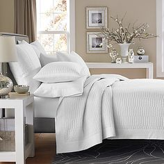 Real Simple® Dune Coverlet in White - Guest Room