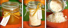 Sel aux zestes de clémentine & Vinaigre à la pulpe de clémentine - Cadeaux gourmands pour Noël -