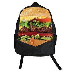 Psychobaby Cheeseburger Backpack, $40.