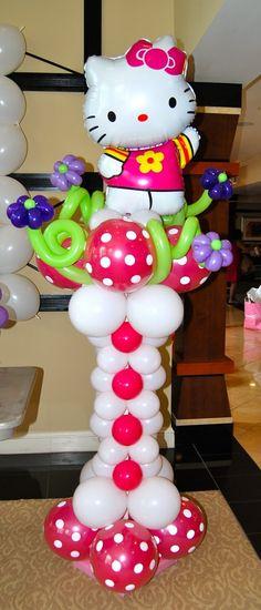 Hello Kitty birthday party balloon decoration