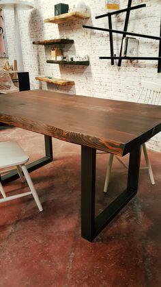 Tavoli in legno : Tavolo in legno massello vintage Tyson legno di ...