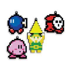 Enfeite de Árvore de Natal Personagens Pixel