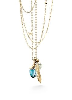 Ole Lynggaard Copenhagen Pendants Leaves and Lotus. Gold 18kt, swiss blue topaz, aquamarine and diamonds. Edelgedacht Gent - De Pinte