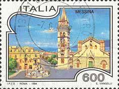 Messina Cathedral stamp
