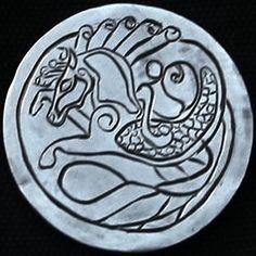 "DAVID ""COALBURN"" RAYMOND LOVE TOKEN - FANTASY HORSE - NO DATE BUFFALO NICKEL Hobo Nickel, Celtic, Carving, Fantasy, Buffalo, Personalized Items, Horse, David, Art"