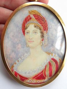 Beautiful Signed Miniature Portrait of Lady Gilt Frame Collectable Antique | eBay