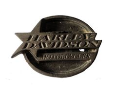 """HARLEY DAVIDSON Star Badge Logo vintage pin lapel badge metal motorcycle Official Merchandise by VintageTrafficUSA  18.00 USD  A vintage Harley Davidson pin used but excellent condition. Official Harley logo on back! Measures: approx 2"""" Have some individuality = some flair! 20 years old hard to find vintage high-quality lapel/pin. These rare pins are proven to win you friends and influence people! Add inspiration to your handbag tie jacket backpack hat or wall…"""