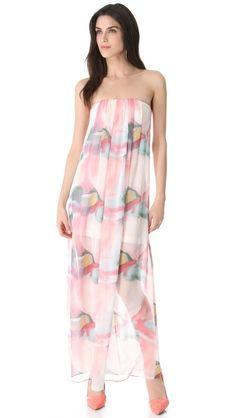alice + olivia Strapless Maxi Dress