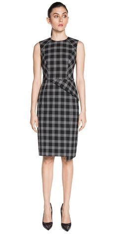 Wear to Work   Stitched Check Dress