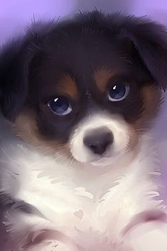 40 Cute Animals Paintings by Rihards Donskis The Design Inspiration Cute Animal Drawings, Cute Drawings, Anime Animals, Animals And Pets, Cute Puppies, Cute Dogs, Cute Little Animals, Animal Paintings, Dog Art