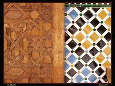Madera y azulejo!  Granada, España