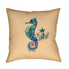 Thumbprintz Seahorse Throw/ Floor Pillow - Free Shipping On Orders Over $45 - Overstock.com - 16480198 - Mobile