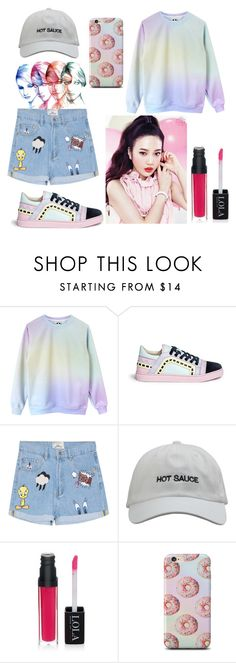 """Red Velvet ""Dumb Dumb Dumb"""" by ikhalyueva ❤ liked on Polyvore featuring Sophia Webster, Etude House, men's fashion and menswear"