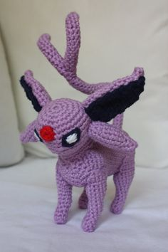 Espeon / Psiana Crochet Pokemon by crochetmeow on Etsy, €54.99