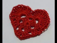 Sacchettino cuore all'uncinetto/heart bag crochet /bolso del corazón del ganchillo. - YouTube