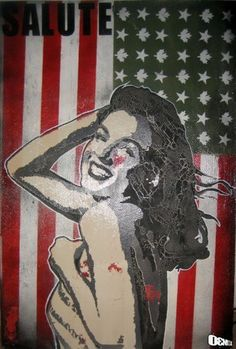"""""""Salute"""" by Daniel Bombardier.  Mixed Media on Wood Panel"""