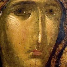 Bible Images, Face Icon, Byzantine Icons, Orthodox Icons, Medieval Art, Sacred Art, Christian Art, Fresco, Madonna