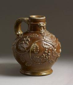 Bellarmine jug,(Bartmann Krug) Frechen,Germany 1520-1545