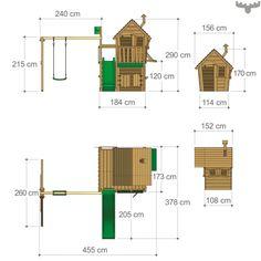 Spielturm CountryCow Maxi, Kletterturm aus holz Pomme 810138
