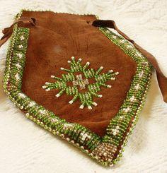 Vintage Native American Beaded Medicin Bag Coin by KLizVintage, $15.00