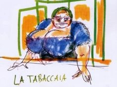 drawing by Federico Fellini
