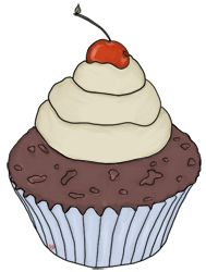 Chocolate Cupcake Pictures Cherry Cupcake at www.wonderweirded.com , free cartoon food clipart to download