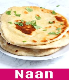 Naan - easy homemade naan recipe using a cast-iron skillet. Soft, puffy, with beautiful brown blisters just like Indian restaurants. Making naan is easy with this step-by-step recipe and video. Recipes With Naan Bread, Recipes With Paneer, Naan Bread Recipe Easy, Indian Dessert Recipes, Ethnic Recipes, Indian Food Recipes Easy, South Indian Breakfast Recipes, Vegetarian Recipes, Cooking Recipes