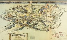 Walt's original concept sketches for Disneyland (pictured) are going to auction where they...