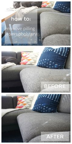 Amazing How To Easily Remove Pilling From Upholstery With A Fabric Shaver. Great  Way To Refresh